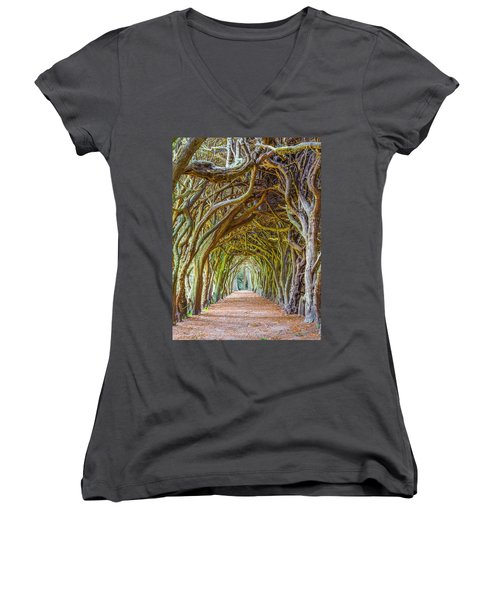 Magic Yew Women's V-Neck (Athletic Fit)