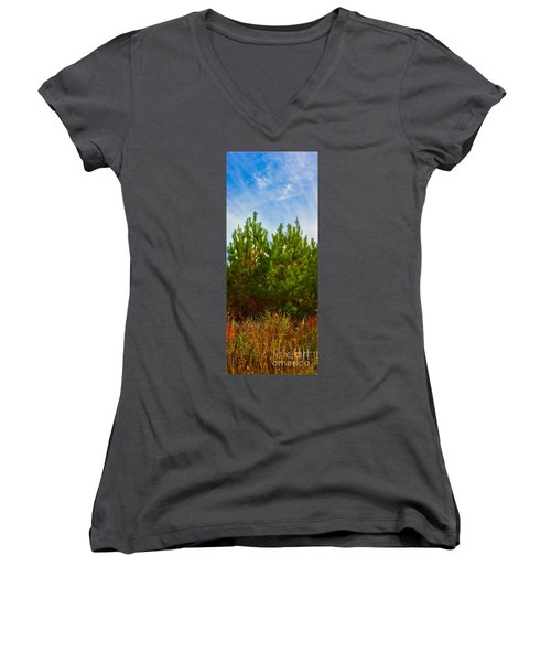 Magical Pines Women's V-Neck (Athletic Fit)