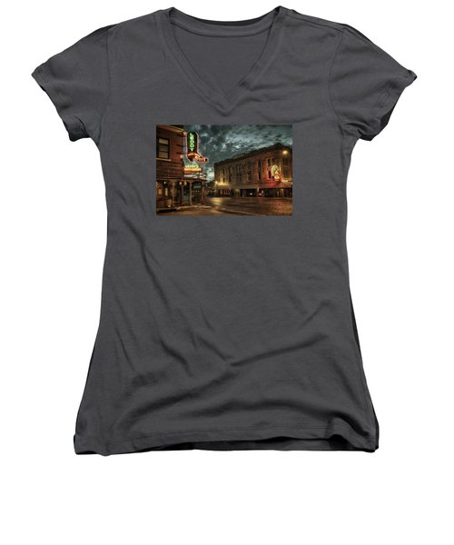 Main And Exchange Women's V-Neck