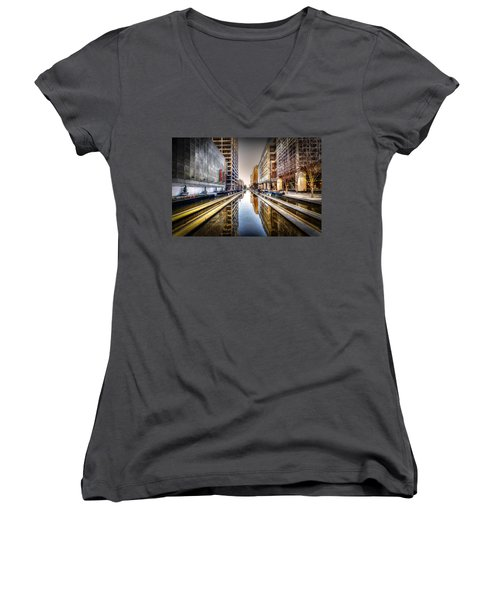 Main Street Square Women's V-Neck T-Shirt