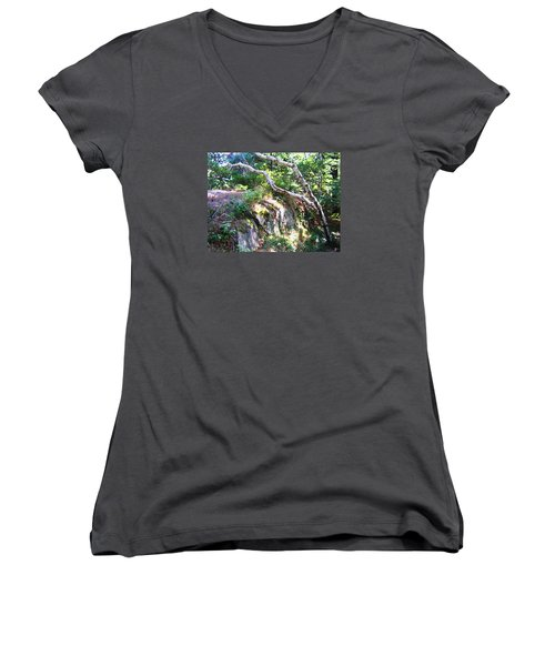 Maine Women's V-Neck T-Shirt (Junior Cut) by Oleg Zavarzin