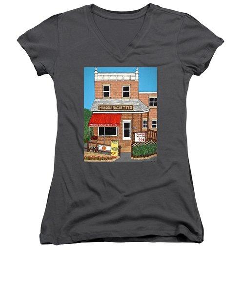 Maison Baguettes Women's V-Neck T-Shirt