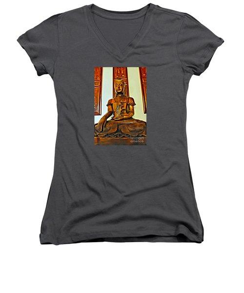 Majestic Buddha Women's V-Neck