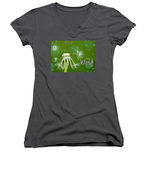 Make A Wish Card Women's V-Neck T-Shirt