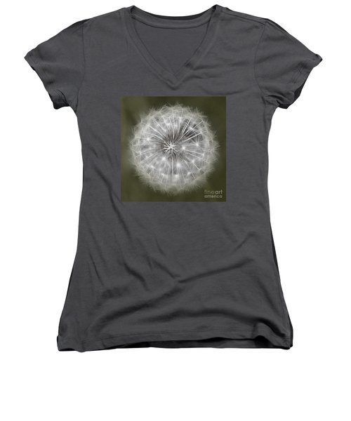 Women's V-Neck T-Shirt (Junior Cut) featuring the photograph Make A Wish by Peggy Hughes
