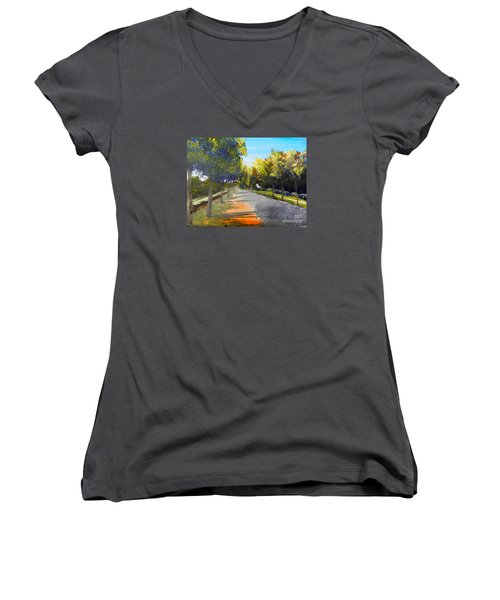 Maldon Victoria Australia Women's V-Neck T-Shirt (Junior Cut) by Pamela  Meredith