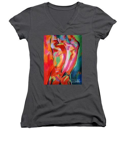 Male Figure Women's V-Neck (Athletic Fit)