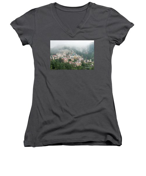 Maleod Ganj Of Dharamsala Women's V-Neck (Athletic Fit)