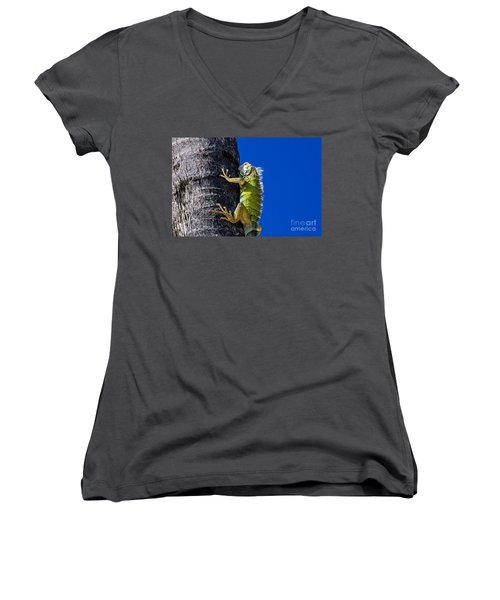 Man Is This Beach Crowded Women's V-Neck (Athletic Fit)