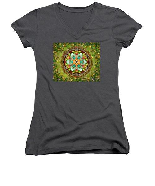 Mandala Evergreen Sp Women's V-Neck (Athletic Fit)