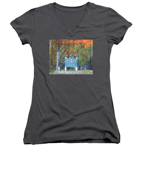 Marathon Park Women's V-Neck T-Shirt