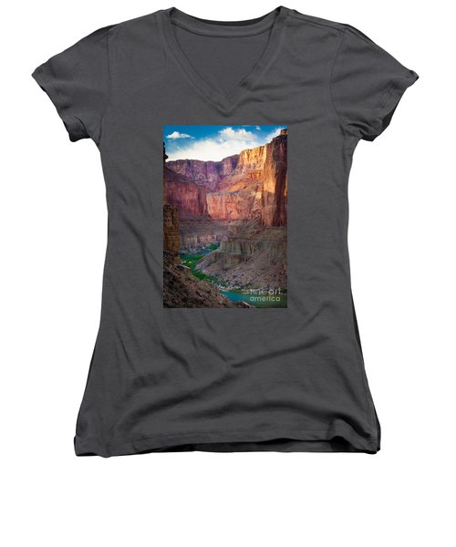 Marble Cliffs Women's V-Neck (Athletic Fit)