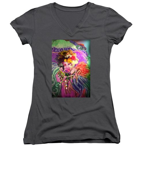 Mardi Gras Queen Women's V-Neck