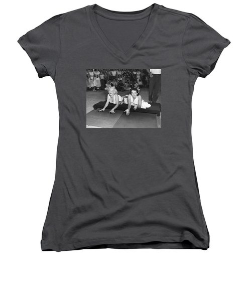 Marilyn Monroe And Jane Russell Women's V-Neck (Athletic Fit)