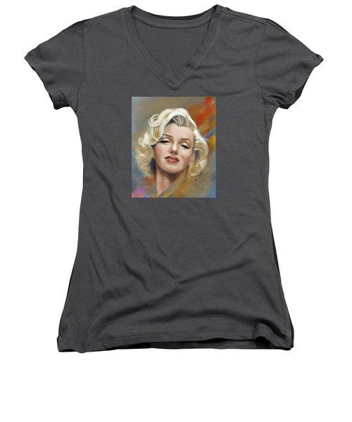 Marilyn Monroe Women's V-Neck (Athletic Fit)