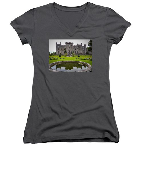 Markree Castle In Ireland's County Sligo Women's V-Neck
