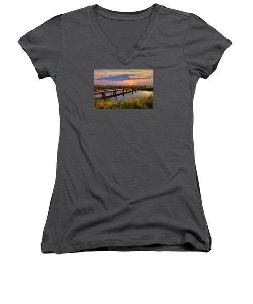 Marsh Harbor Women's V-Neck T-Shirt