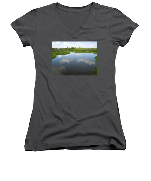 Marshland Women's V-Neck T-Shirt