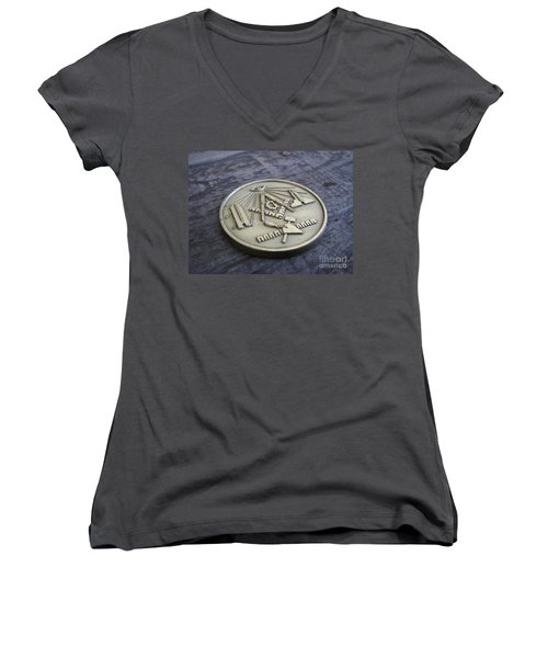 Masonic Medal Women's V-Neck (Athletic Fit)