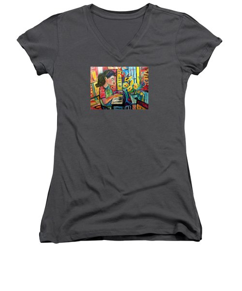 May Dreams Women's V-Neck (Athletic Fit)
