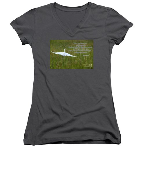 May The Lord Bless You Women's V-Neck (Athletic Fit)