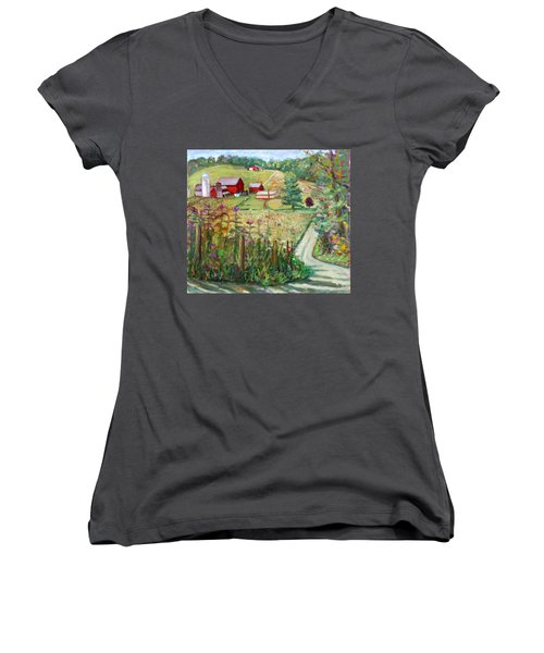 Meadow Farm Women's V-Neck (Athletic Fit)