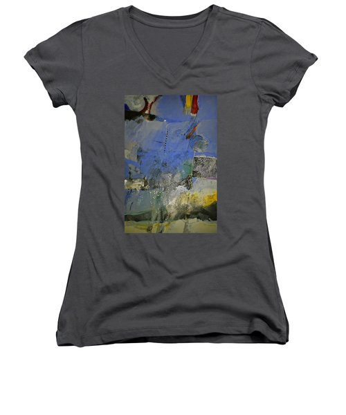 Meatier Illogical Cold Front Women's V-Neck T-Shirt (Junior Cut) by Cliff Spohn