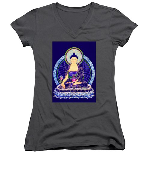 Medicine Buddha 6 Women's V-Neck (Athletic Fit)