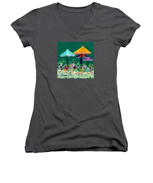 Meet Me At The Cafe Women's V-Neck (Athletic Fit)