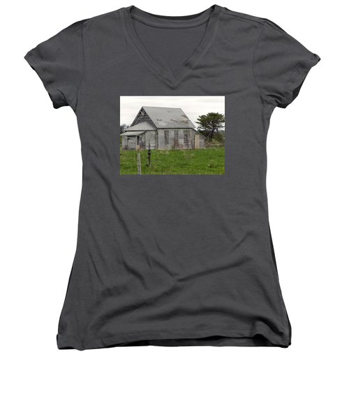 Women's V-Neck T-Shirt (Junior Cut) featuring the photograph Memories by Deb Halloran