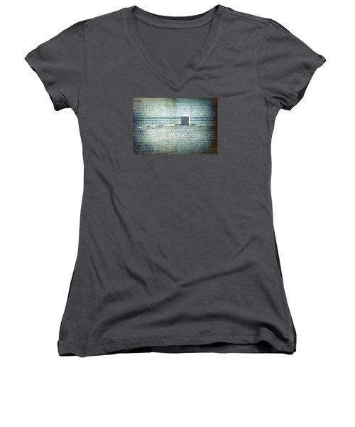Memories... Women's V-Neck T-Shirt (Junior Cut) by Vittorio Chiampan