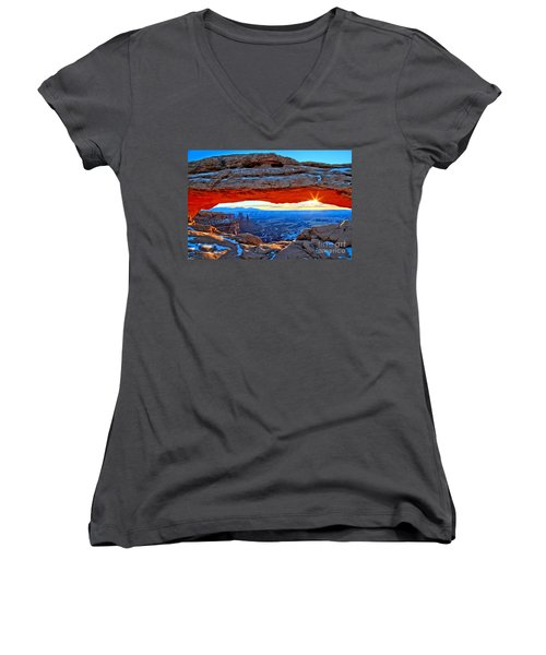 Mesa Arch Sunrise Women's V-Neck (Athletic Fit)