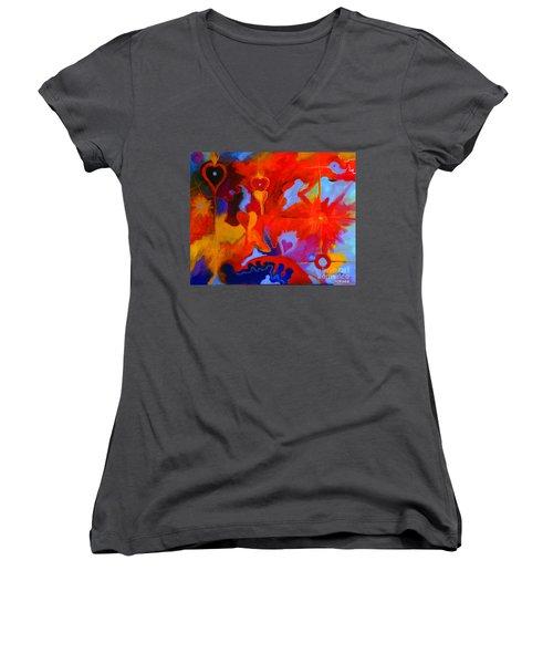 Message Of Love Women's V-Neck T-Shirt