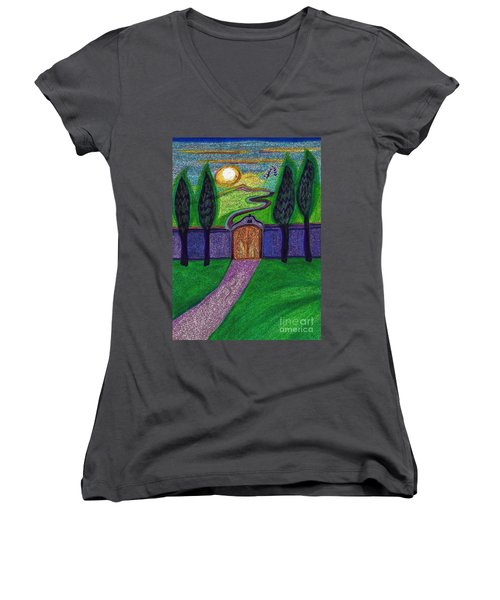 Metaphor Door By Jrr Women's V-Neck (Athletic Fit)
