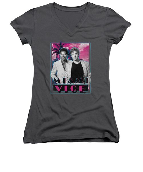Miami Vice - Gotchya Women's V-Neck (Athletic Fit)