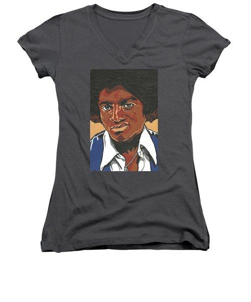 Michael Jackson Women's V-Neck