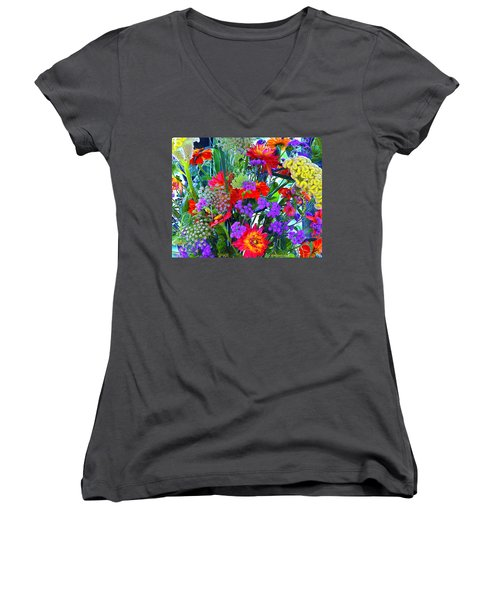 Mid August Bouquet Women's V-Neck (Athletic Fit)