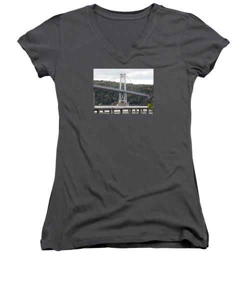 Mid Hudson Bridge Women's V-Neck T-Shirt