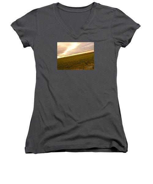 Midwest Slanted Women's V-Neck T-Shirt