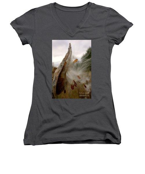 Milkweed Women's V-Neck T-Shirt