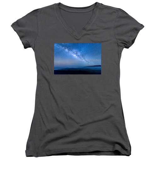 Milky Way Suspended Above Mauna Loa 1 Women's V-Neck (Athletic Fit)