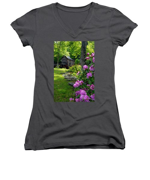 Mill And Rhododendrons Women's V-Neck