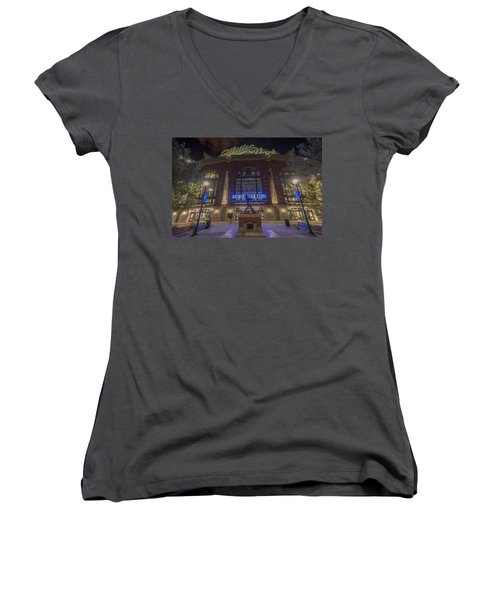 Milwaukee Brewers Miller Park 2 Women's V-Neck T-Shirt