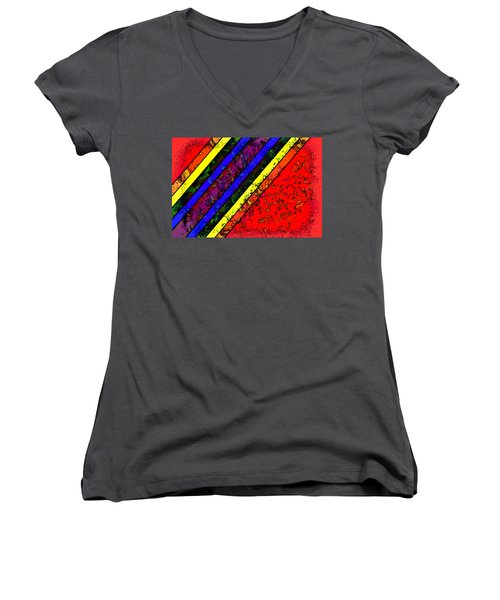 Mingling Stripes Women's V-Neck T-Shirt