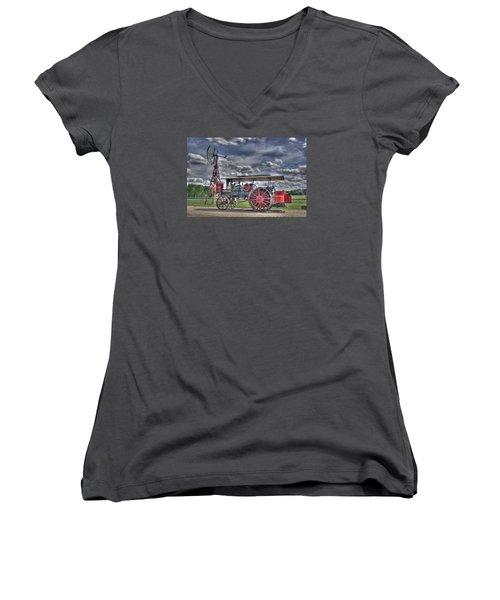 Minneapolis At The Windmill Women's V-Neck T-Shirt