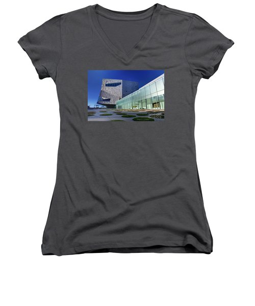 Minneapolis Skyline Photography Walker Art Museum Women's V-Neck (Athletic Fit)