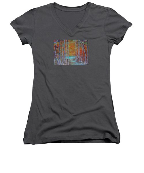 Minnesota Sunset Women's V-Neck