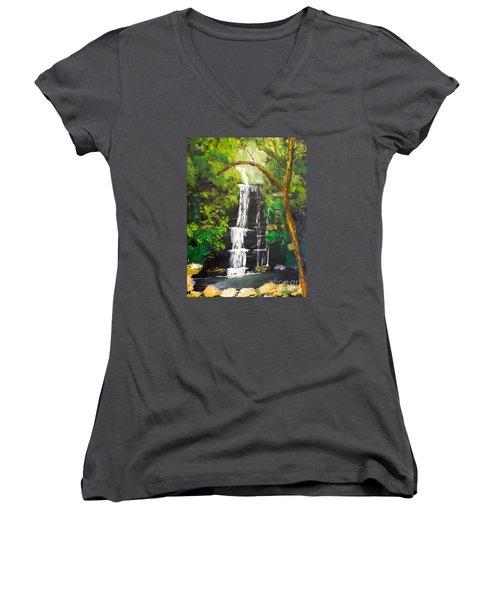 Minnumurra Falls Women's V-Neck T-Shirt