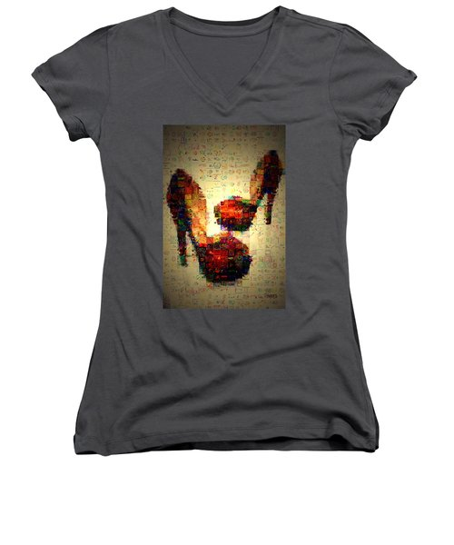 Misbehavin Shoes Women's V-Neck T-Shirt