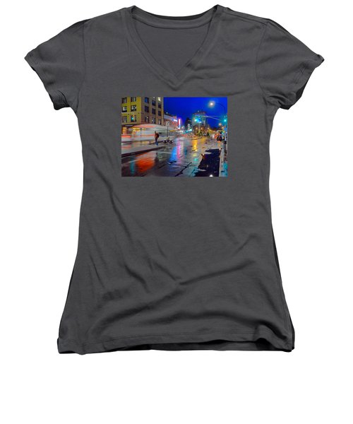 Missed The Bus Women's V-Neck (Athletic Fit)